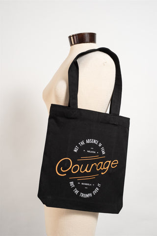 "the Tote bag ""Courage"" Mandela quote"