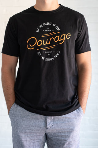 """Courage"" Mandela quote unisex t-shirt"