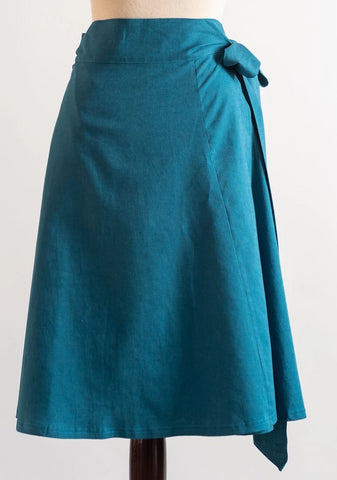 the Lucy wrap skirt