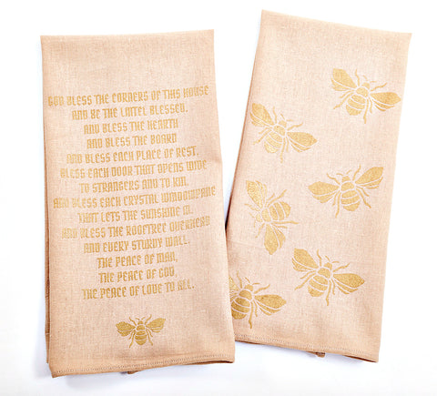 Bees Dishtowels - Set of 2