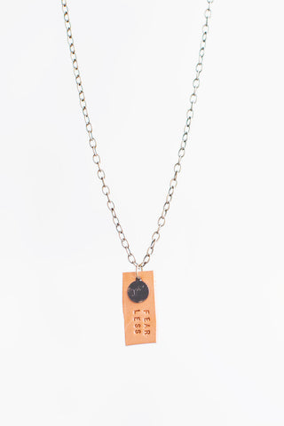 Revolution Leather Pendant Necklace