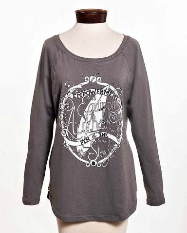 the Empowerment Raglan shirt
