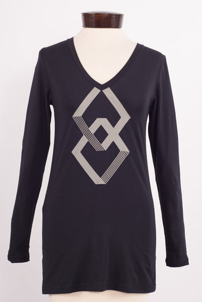 Squares long-sleeved t-shirt