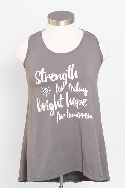 "HOPE ""Strength for Today"" Ladderback Tank"