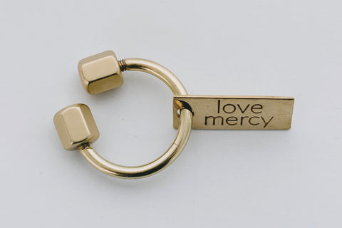 """Love Mercy"" Keychain"