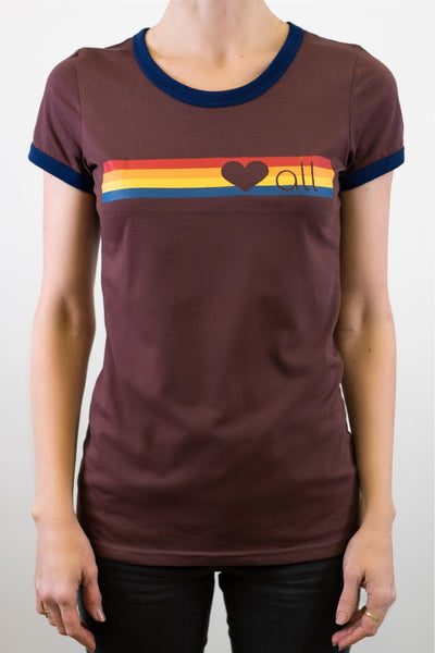 """Love All"" women's cut t-shirt in fig"