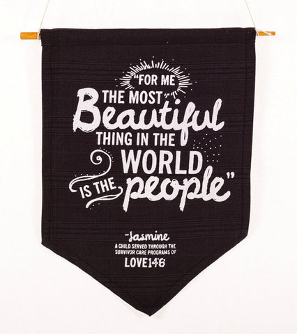 "ReImagine Pennant ""The Most Beautiful Thing in the World"""