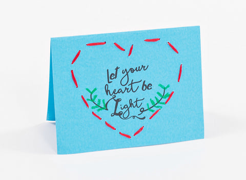 "Handmade Cards - ""Let Your Heart Be Light"" (pack of 10)"