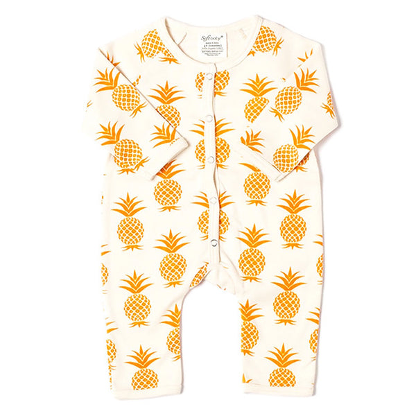 Golden Pineapple - Long Romper - 100% Organic