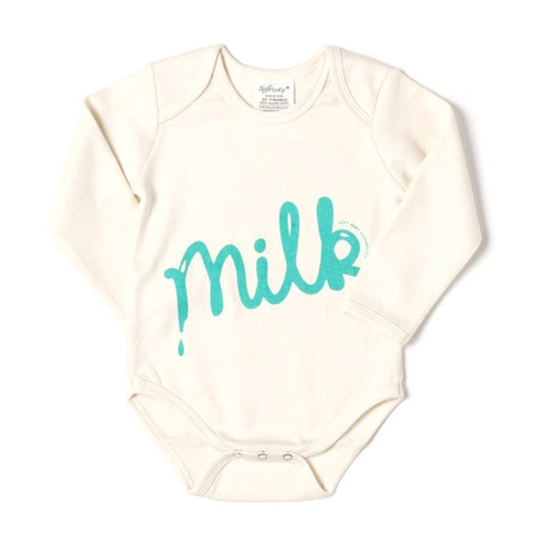 Long Sleeve Onesie - Milk