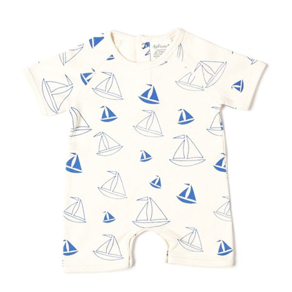 Short Romper - Boats