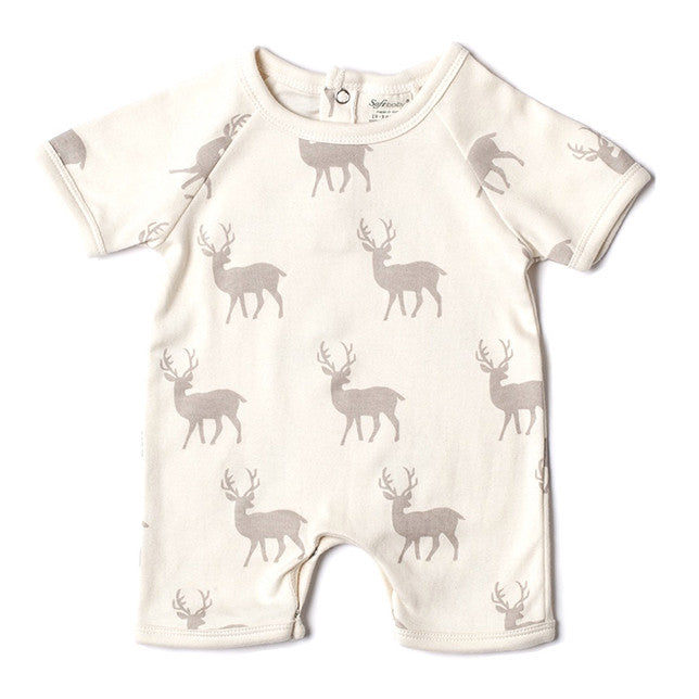 Short Romper - Grey Stag