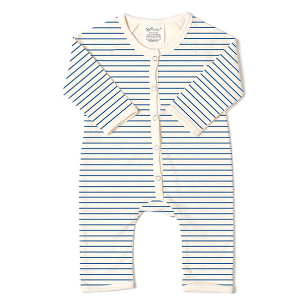 Long Romper - Blue Stripes