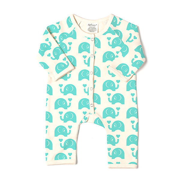 Long Romper - Elephant