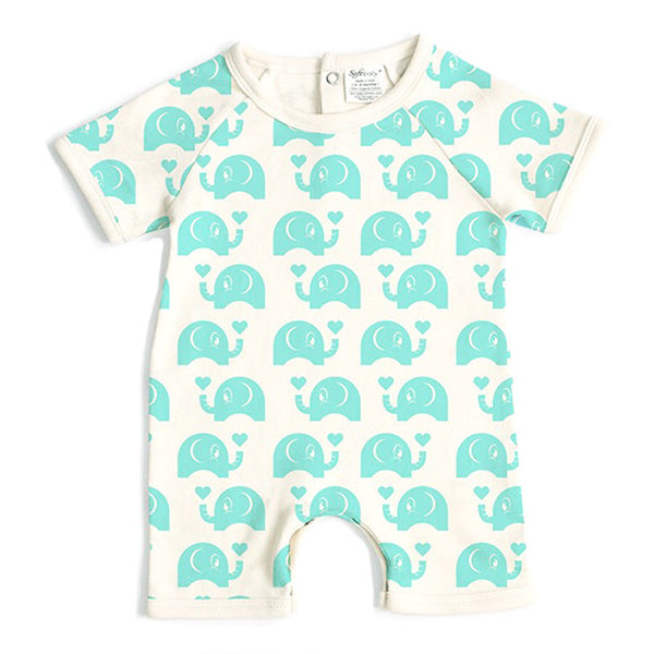 Short Romper - Elephant