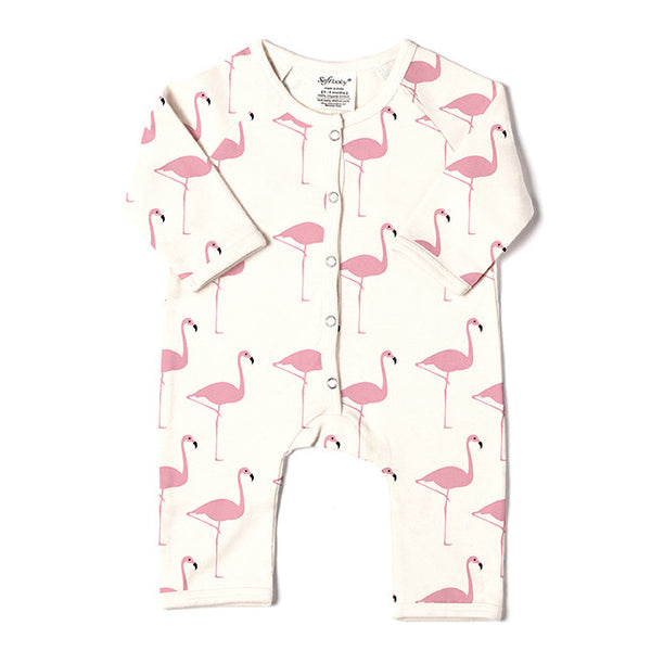 Long Romper - Flamingo