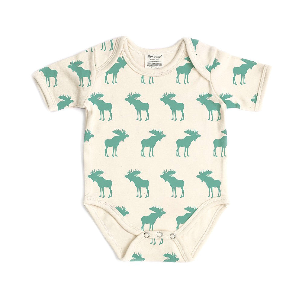 Short Sleeve Onesie - Moose