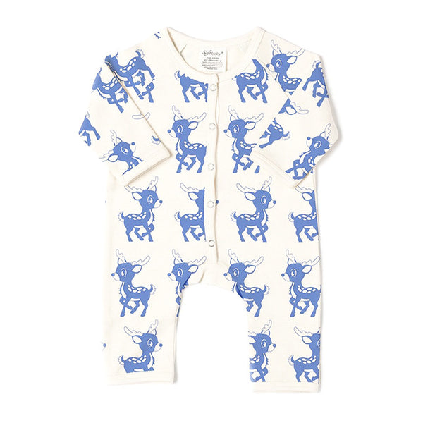 Long Romper - Blue Deer