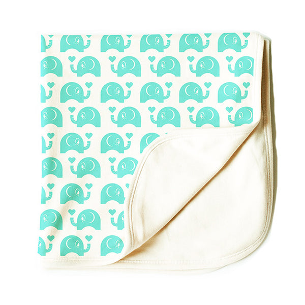 The Green Elephant - Blanket - Natural White - 100% Organic