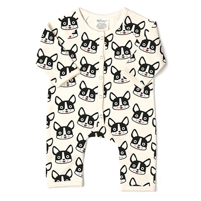 The French Bulldog - Long Romper - 100% Organic