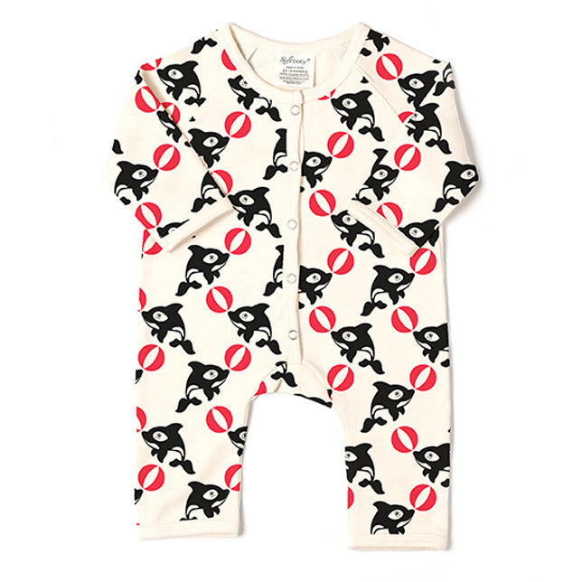 The Orca - Long Romper - 100% Organic