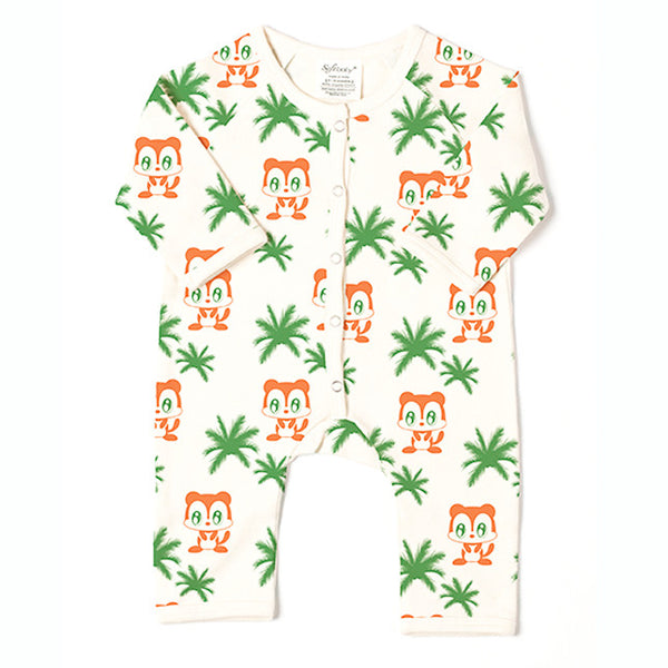 Monkey & Trees - Long Romper - 100% Organic
