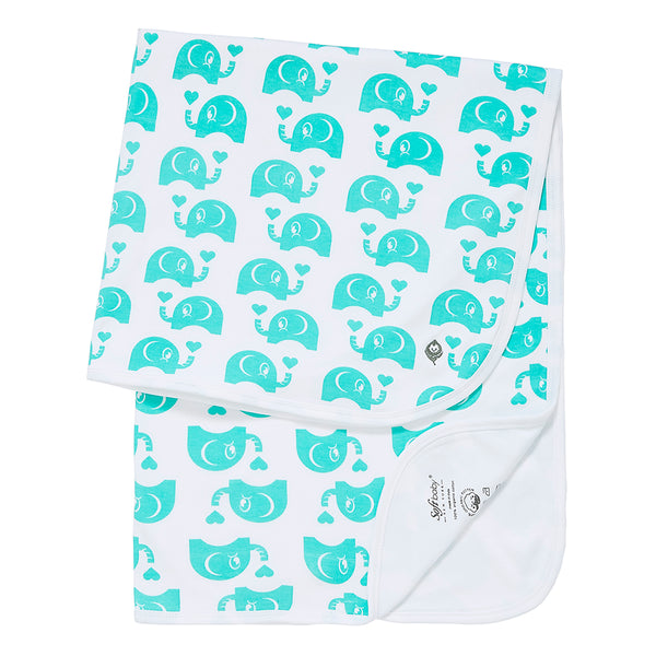 The Green Elephant -  Blanket - 100% Organic