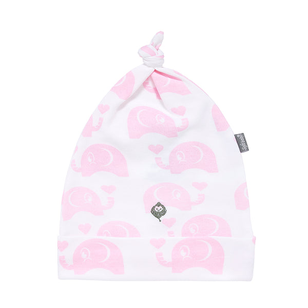 The Pink Elephant -  Hat - 100% Organic