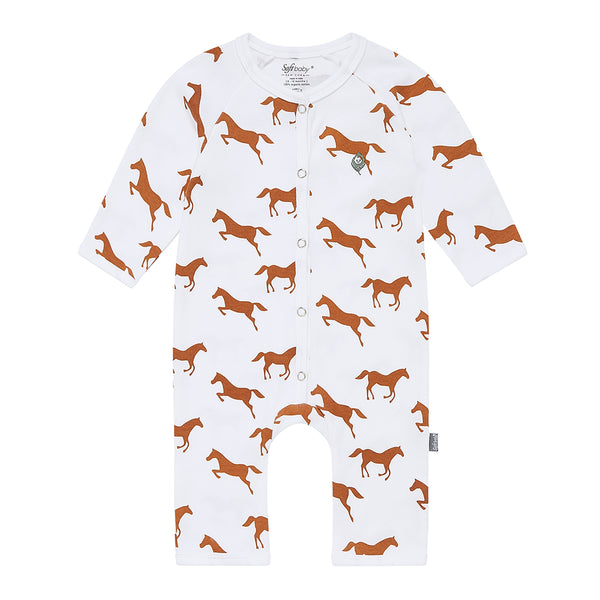 Brown Horse Long Romper