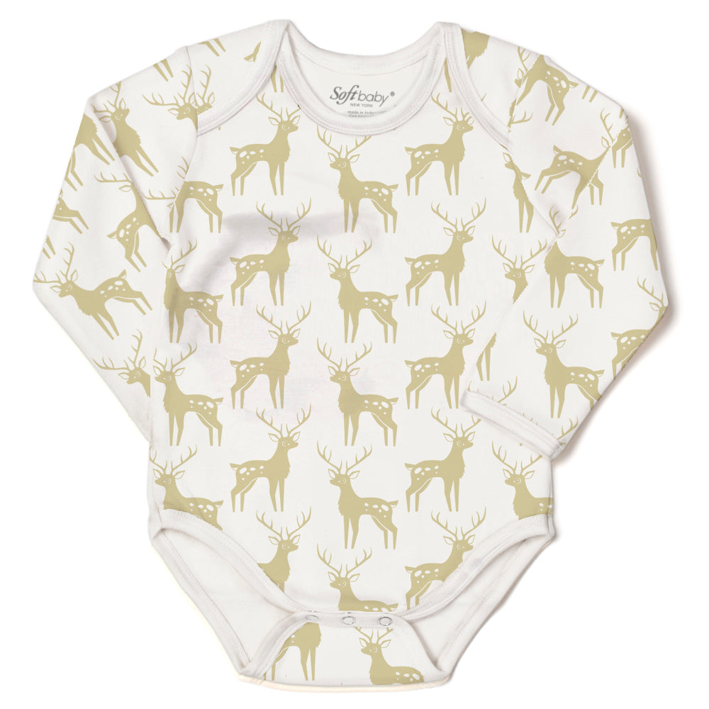 The Golden Deer - L/S Onesie - 100% Organic