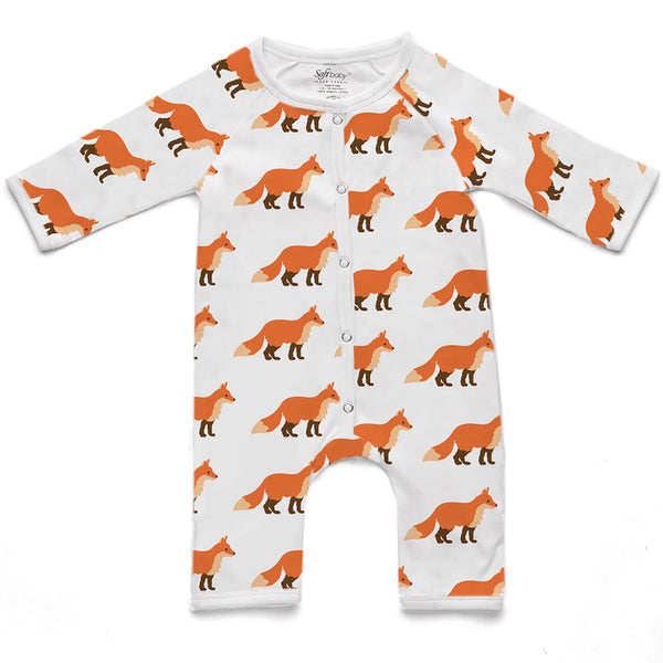 100% Organic Long Romper - Fox