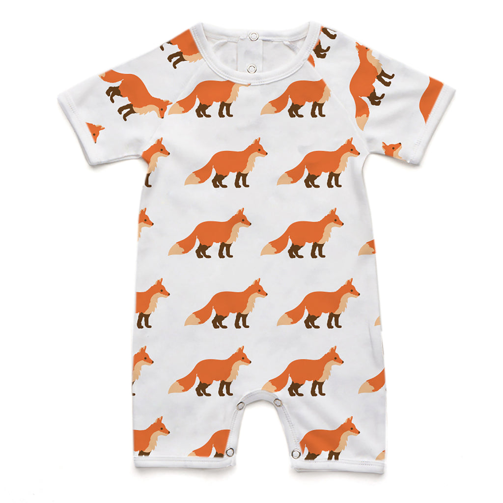 100% Organic Short Romper - Fox