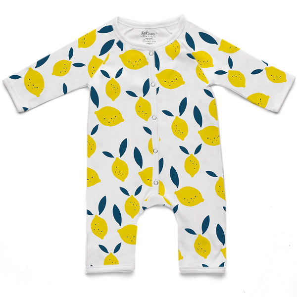 100% Organic Long Romper - Lemon