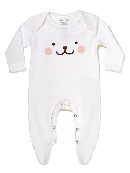 Beary Happy - Footed Onesie - 100% Organic
