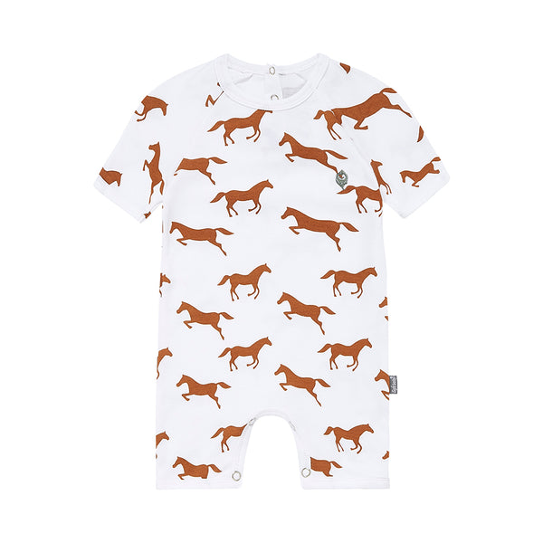 Brown Horse Short Romper
