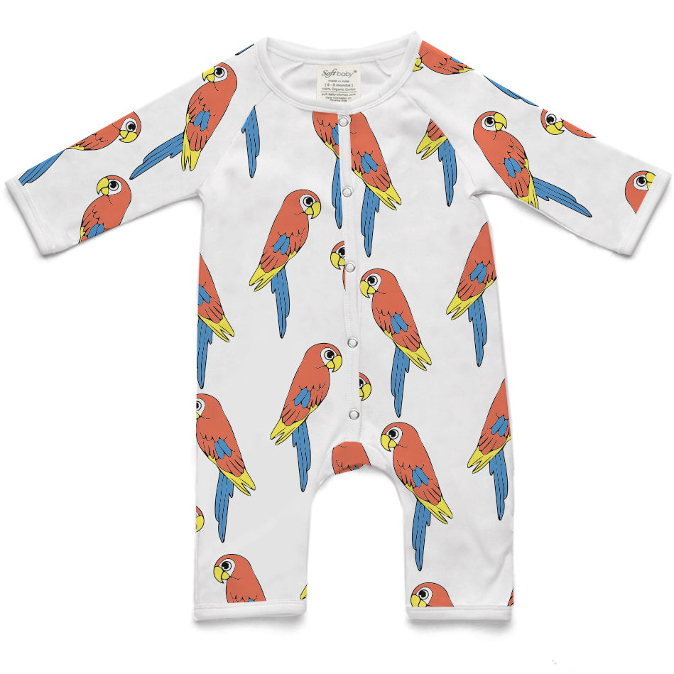 The Parrot - Long Romper - 100% Organic