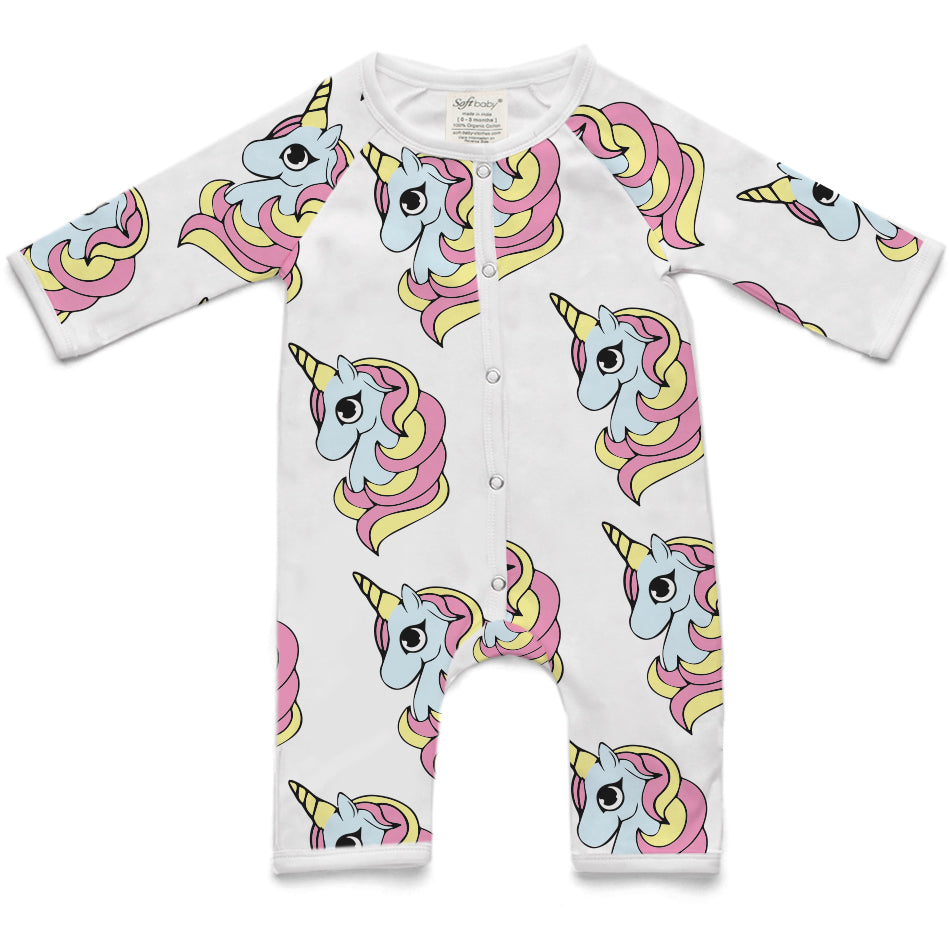 Copy of 100% Organic Long Romper - Unicorn