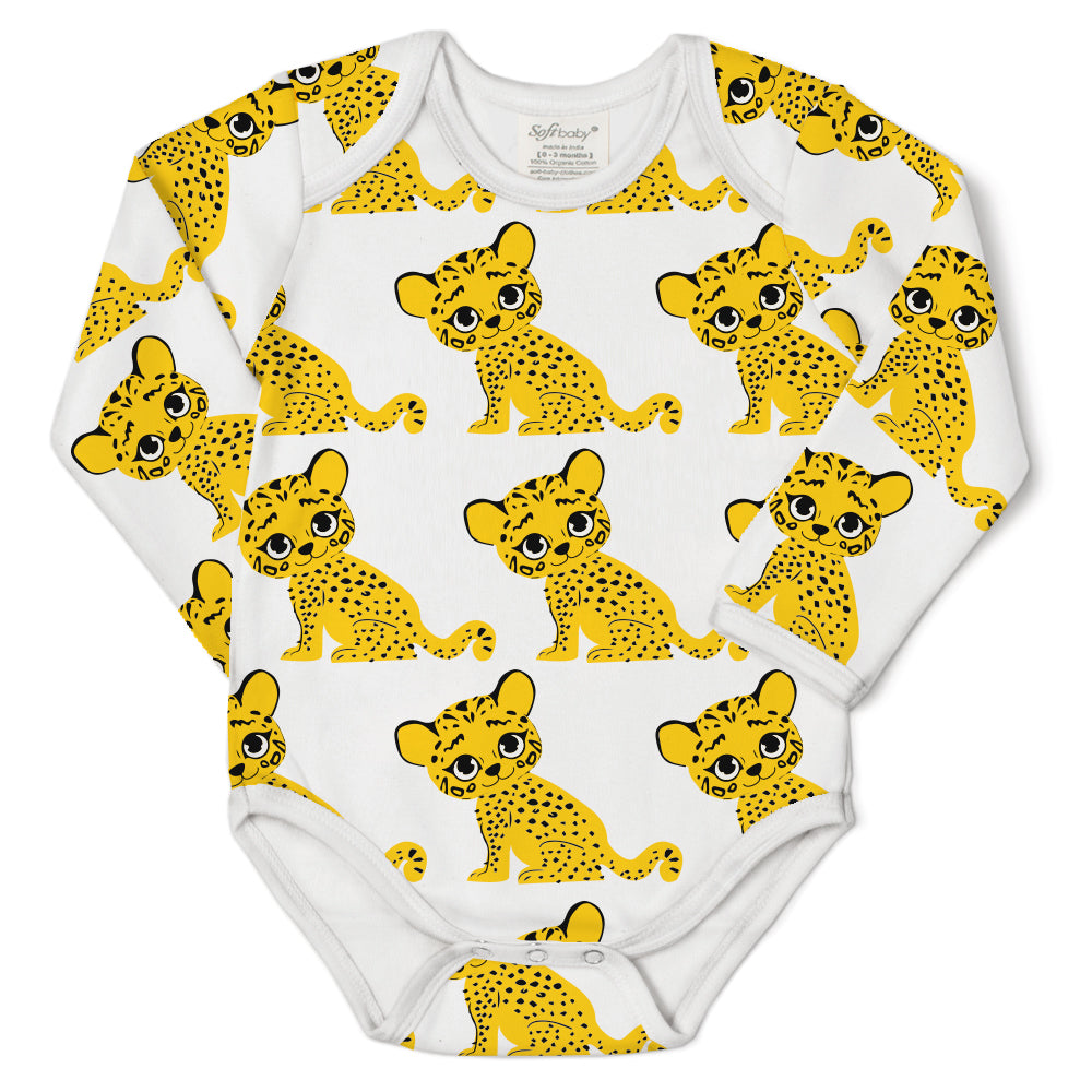 100% Organic Long Sleeves Onesie - Tiger