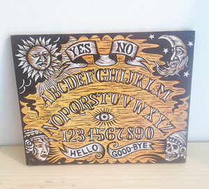 Gothic Home Decor - Vintage Ouija Board Woodcut Art Print - Occult Home Decor - Ouija Board Sign  - Goth Art - Witch Gift - Witch Art