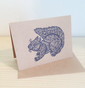 Squirrel Greeting Card - Stationery - Letterpress Cards - Animal Notecards - Cards - Woodland Animal Card - Blank Cards - Paper - Writing