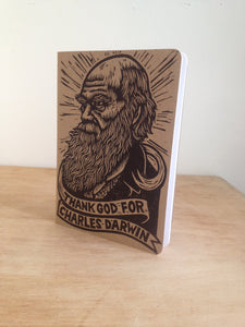 Travel Bullet Journal - Notebook - Charles Darwin Large Travel Journal -  Thank God for Charles Darwin Notebook - Science Teacher Gift