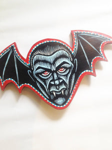 Dracula Wall Art - Cutout Print on Wood