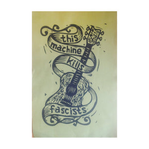 This Machine Kills Fascists Patch - Hippie Patch - Activist Patch - Back Patch - Jacket Patch - Sew On Patch - Punk Patches - Woody Guthrie