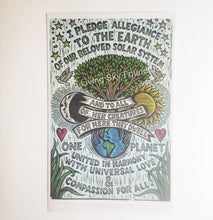 Load image into Gallery viewer, Earth Pledge Art Print