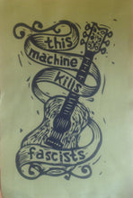 Load image into Gallery viewer, This Machine Kills Fascists Patch - Hippie Patch - Activist Patch - Back Patch - Jacket Patch - Sew On Patch - Punk Patches - Woody Guthrie