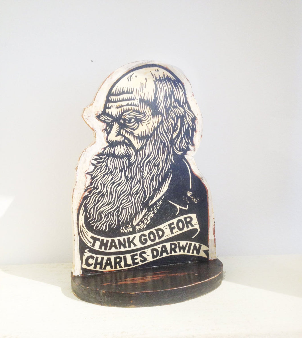 Charles Darwin Bookend - Sculpture