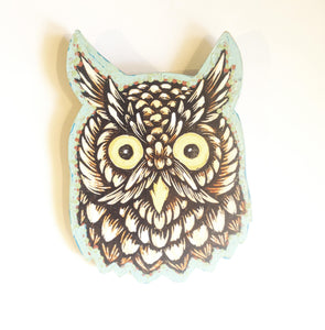 Owl Decor - Rustic Home Decor - Bird Wall Art - Porch Decor