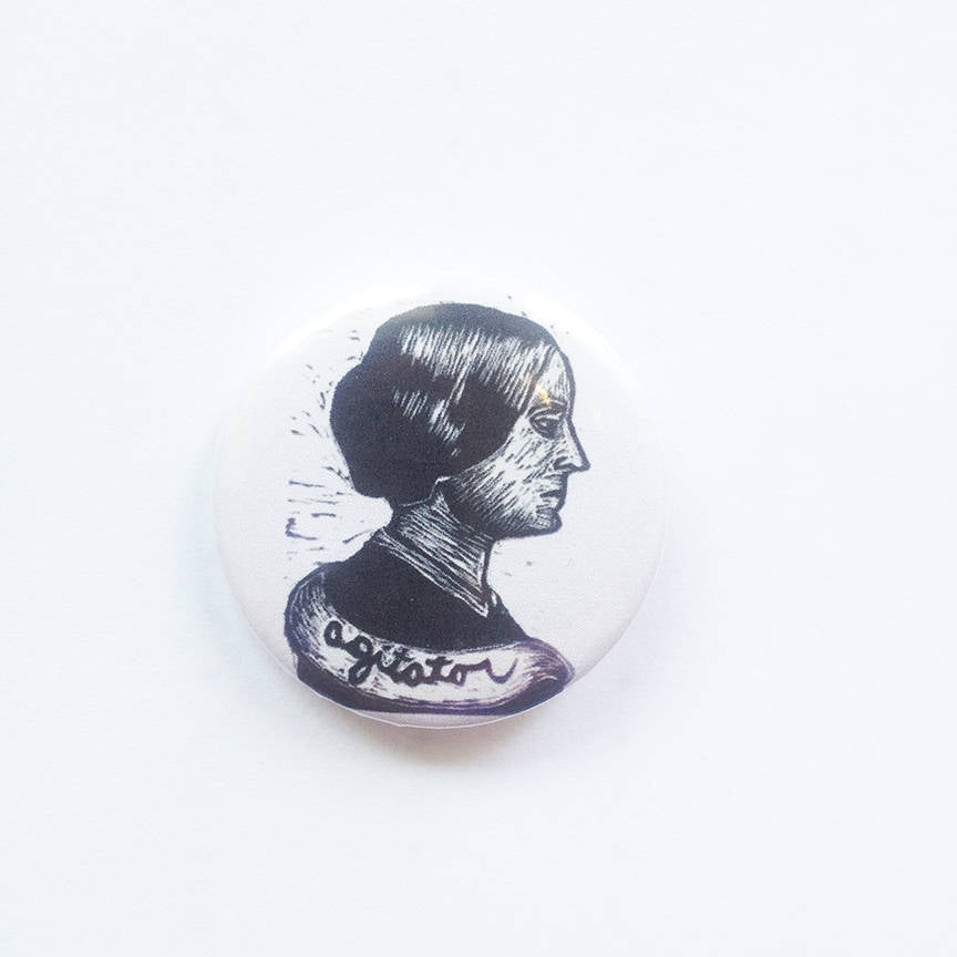 Susan B. Anthony Button - Pin Back Buttons - Susan B. Anthony Pin - Suffragette Button - Agitator Button - Feminist Buttons - Pins - Buttons