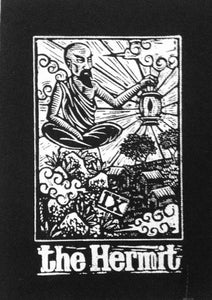 Patches for Jackets - The Hermit Tarot Sew On Patch - Punk Patches - Occult Patch