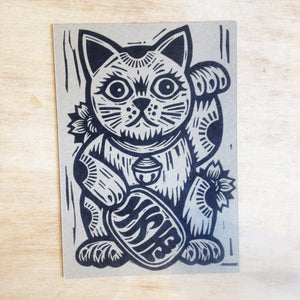 Lucky Cat Postcard